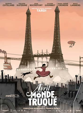 Affiche du film Avril et le monde truqué tiré de l'univers de Jacques Tardi - Illustrose