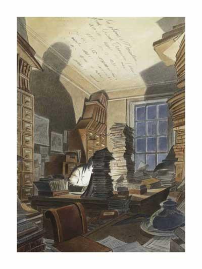 françois-schuiten-affiche-art-deco-paul-otlet-bibliotheque-mundaneum