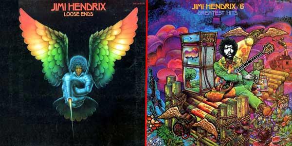 Illustration de Georges Lacroix et Patrick Lesueur pour la pochette du vinyle Jimi Hendrix volume 5 & 6