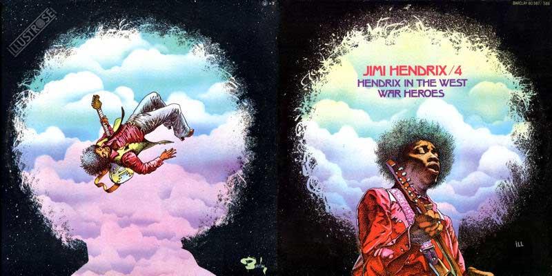 Illustration de Patrice Leroy pour la pochette du vinyle Jimi Hendrix volume 4