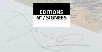 Tirages numérotés et signés