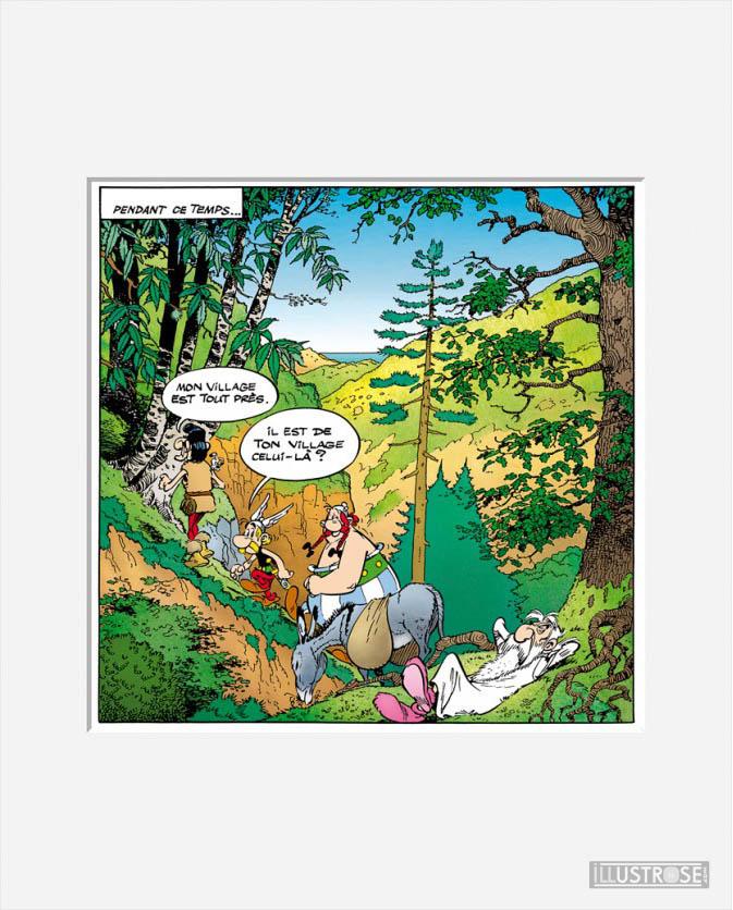 Affiche d'art décorative BD Astérix d'Albert Uderzo 'La corse' - Illustrose