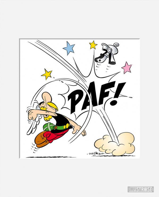 Affiche d'art décorative BD Astérix d'Albert Uderzo 'PAF! Astérix' - Illustrose