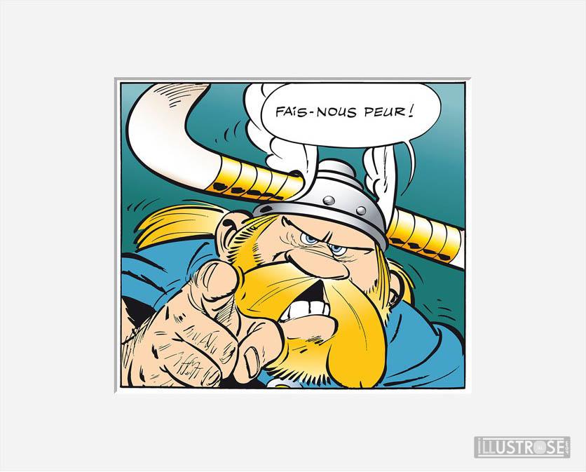 Affiche d'art décorative BD Astérix d'Albert Uderzo 'Fais nous peur' - Illustrose