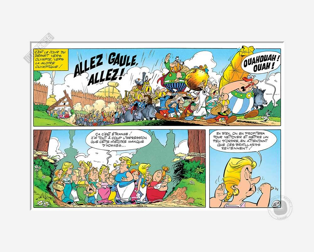 Digigraphie affiche d'art décorative BD Astérix d'Albert Uderzo 'Allez Gaule' - Illustrose