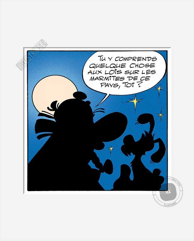 Digigraphie affiche d'art décorative BD Astérix d'Albert Uderzo 'Les marmites' - Illustrose