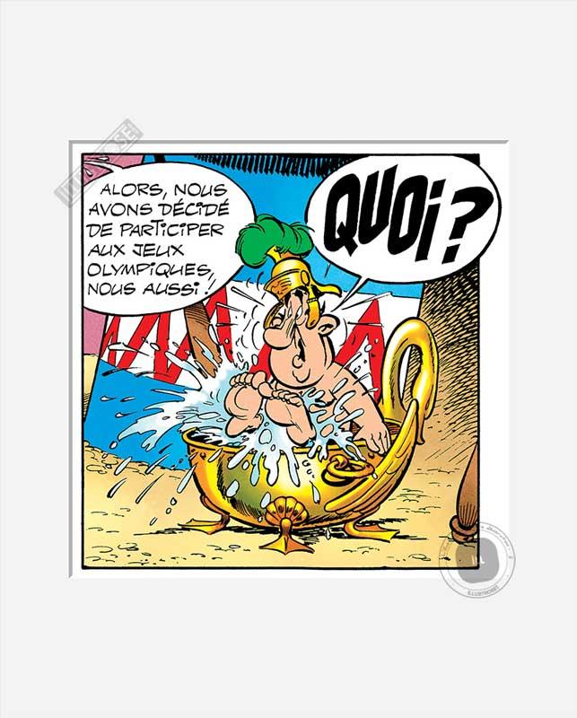 Digigraphie affiche d'art décorative BD Astérix d'Albert Uderzo 'Quoi' - Illustrose