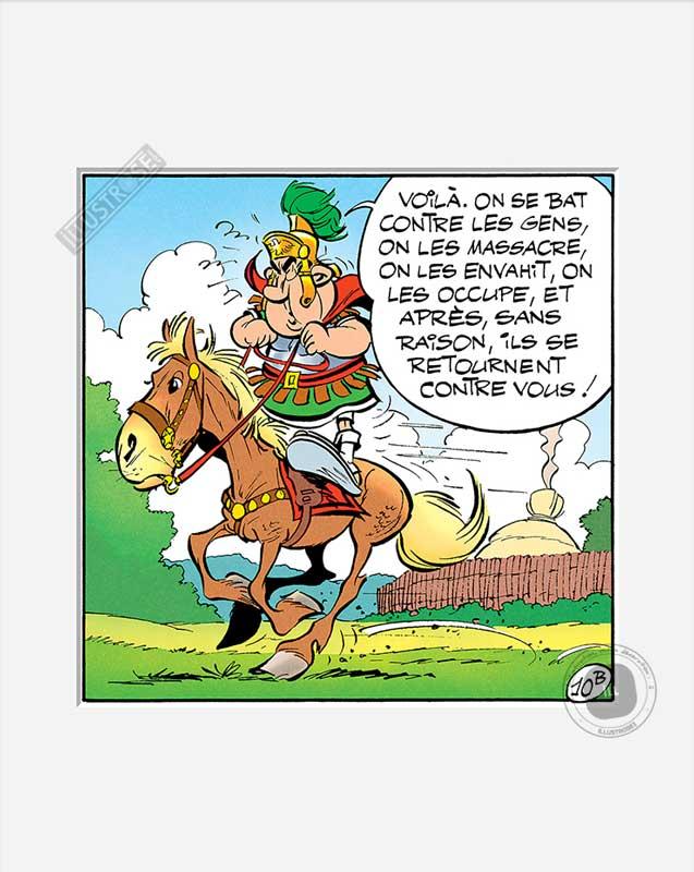 Digigraphie affiche d'art décorative BD Astérix d'Albert Uderzo 'Voila' - Illustrose