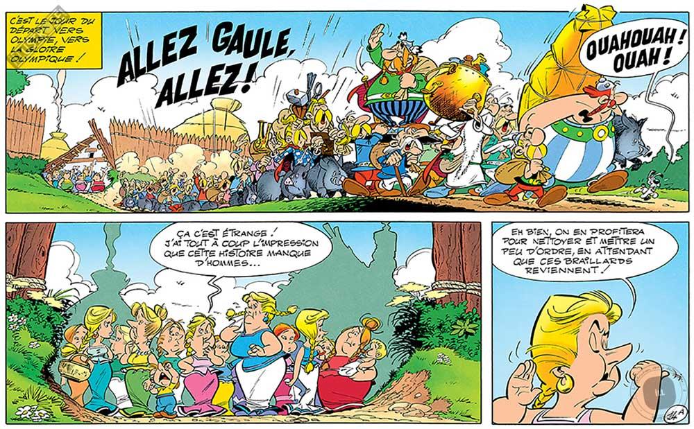 Toile d'art décorative BD Astérix d'Albert Uderzo 'Allez Gaule' - Illustrose