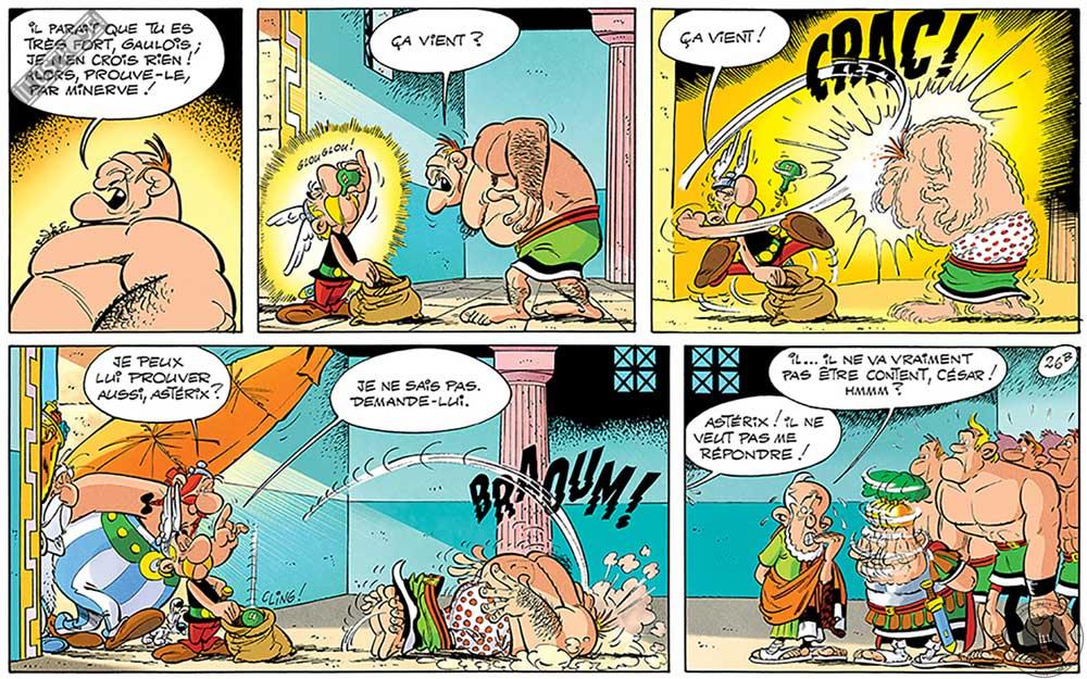 Toile d'art décorative BD Astérix d'Albert Uderzo 'Ça vient' - Illustrose