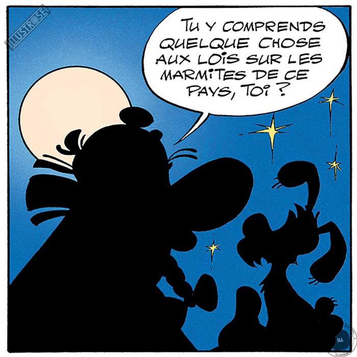 Toile d'art décorative BD Astérix d'Albert Uderzo 'Les marmites' - Illustrose