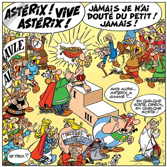 Toile d'art décorative BD Astérix d'Albert Uderzo 'Vive Astérix' - Illustrose