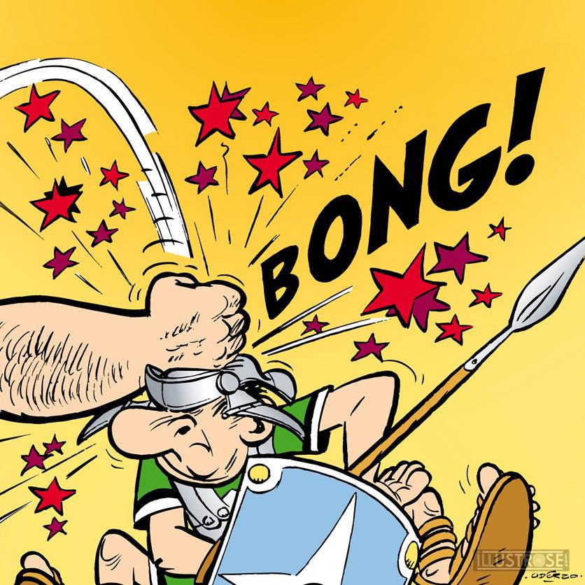 Digigraphie toile décorative BD Astérix d'Albert Uderzo 'Bong!' - Illustrose