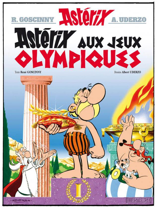 Digigraphie toile décorative BD Astérix d'Albert Uderzo 'Couverture Astérix aux JO' - Illustrose