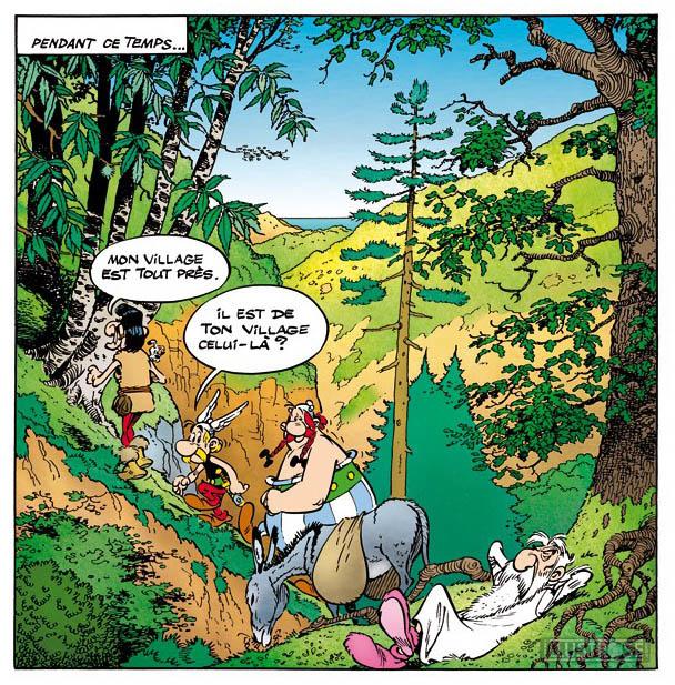 Toile BD décorative Astérix d'Albert Uderzo 'La corse' - Illustrose