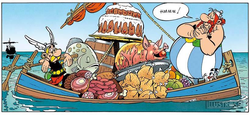 Toile BD décorative Astérix d'Albert Uderzo 'Hmmm' - Illustrose