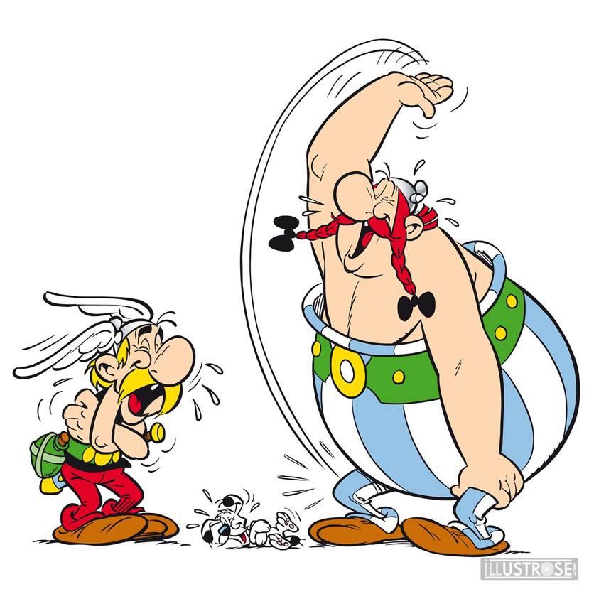 Toile BD décorative Astérix d'Albert Uderzo 'Mort de rire' - Illustrose