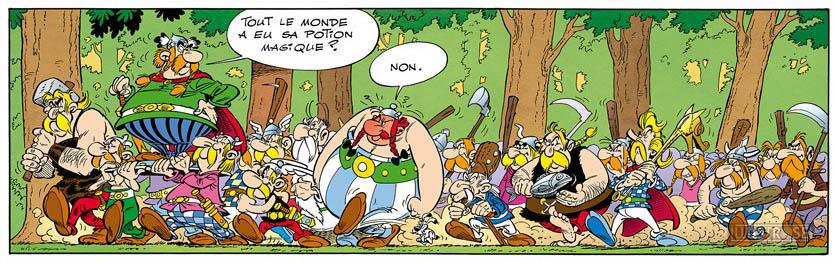 Toile BD décorative Astérix d'Albert Uderzo 'Non' - Illustrose