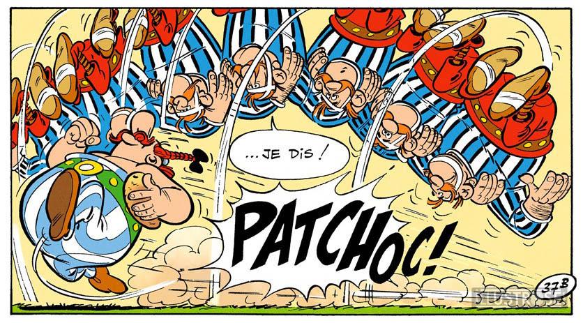 Toile BD décorative Astérix d'Albert Uderzo 'Patchoc!' - Illustrose