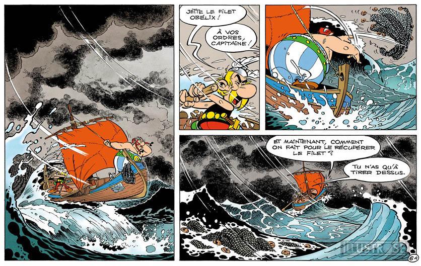 Toile BD décorative Astérix d'Albert Uderzo 'Tempête' - Illustrose
