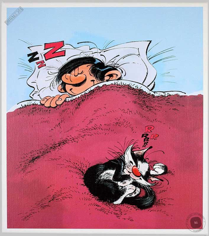 Toile BD décorative Gaston Lagaffe d'André Franquin 'ZZZ...RRR...' - Illustrose