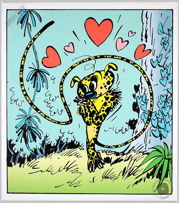 Toile BD décorative Marsupilamie d'André Franquin 'Amoureuse' - Illustrose