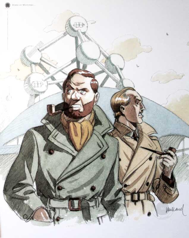 Affiche BD 'Blake et Mortimer' de Juillard - Illustrose
