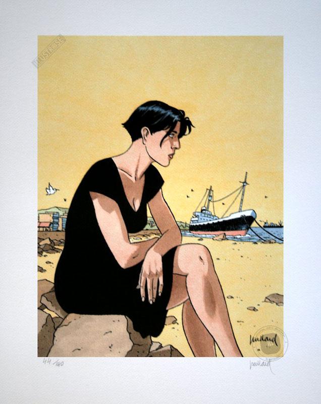 Affiche d'art BD Léna de Juillard 'Léna assise' - Illustrose