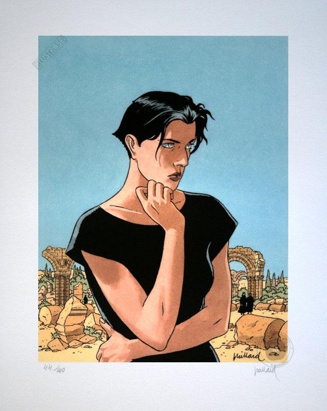 Affiche d'art BD Léna de Juillard 'Léna ruines' - Illustrose