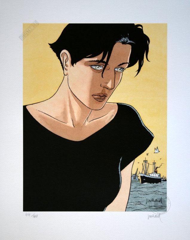 Affiche d'art BD Léna de Juillard 'Léna visage' - Illustrose