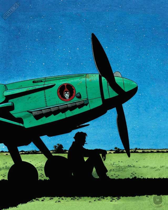 Affiche d'art BD signée André Juillard 'Mezek, nuit' - Illustrose