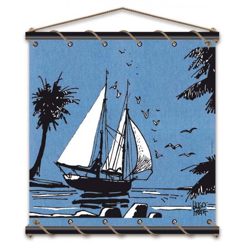 Toile décorative BD Corto Maltese 'Adieu bleu' - Illustrose