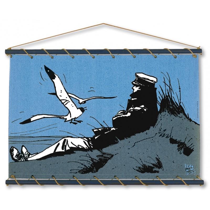 Toile décorative BD Corto Maltese 'Dune bleu' - Illustrose