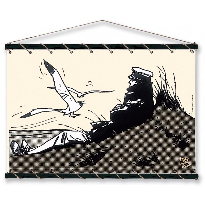 Toile décorative BD Corto Maltese 'Dune écru' - Illustrose