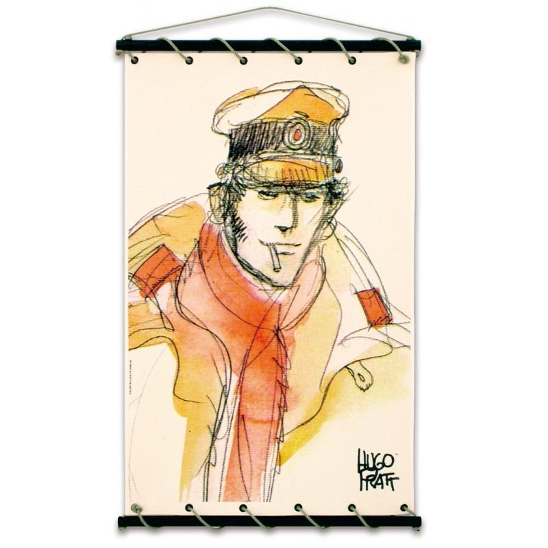 Toile décorative BD Corto Maltese 'L'écharpe rouge' - Illustrose