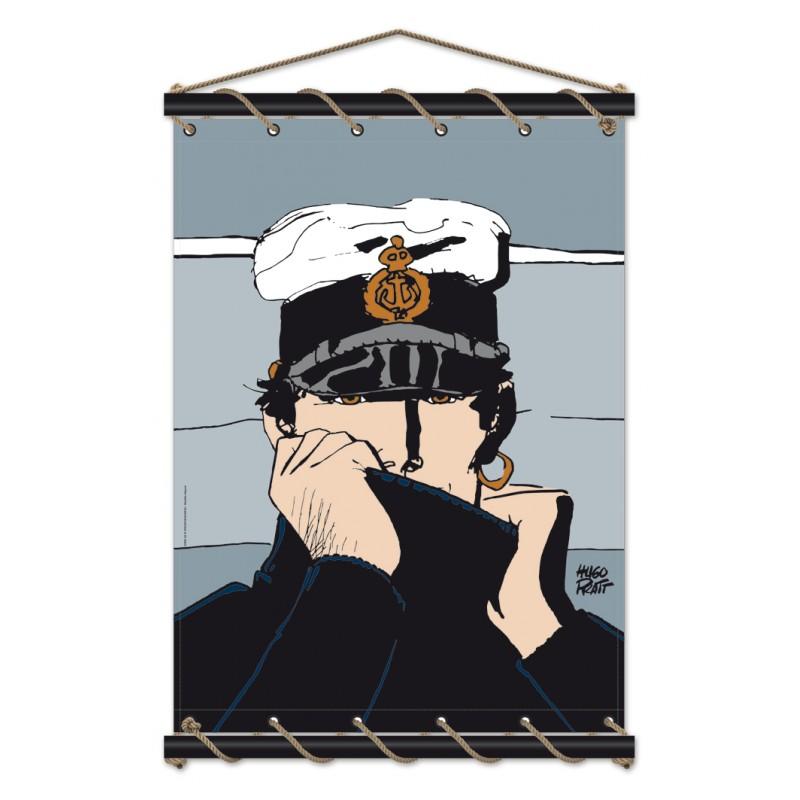 Toile décorative BD Corto Maltese 'Marin gris' - Illustrose