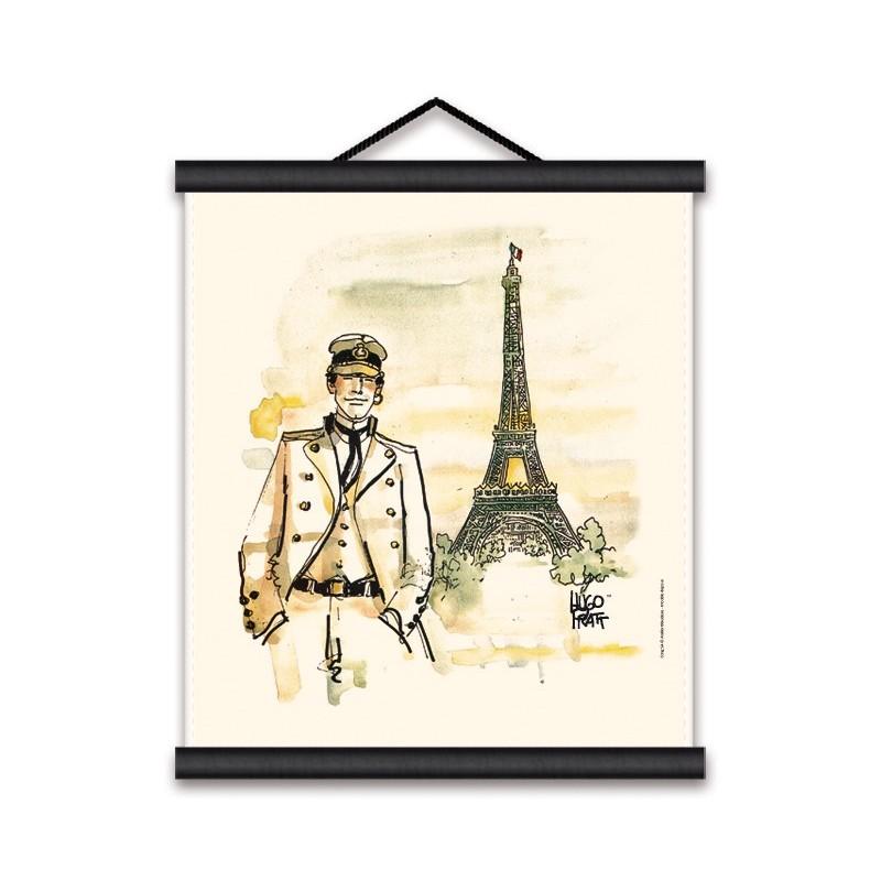 Toile décorative BD Corto Maltese 'Paris' - Illustrose