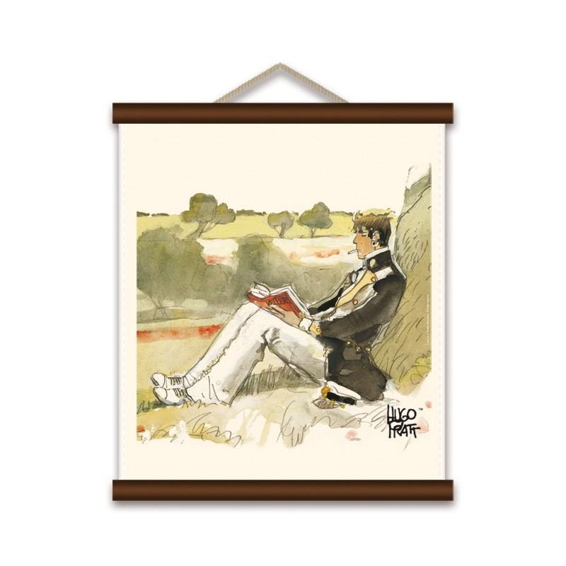 Toile décorative BD Corto Maltese 'Corto en Suisse' - Illustrose