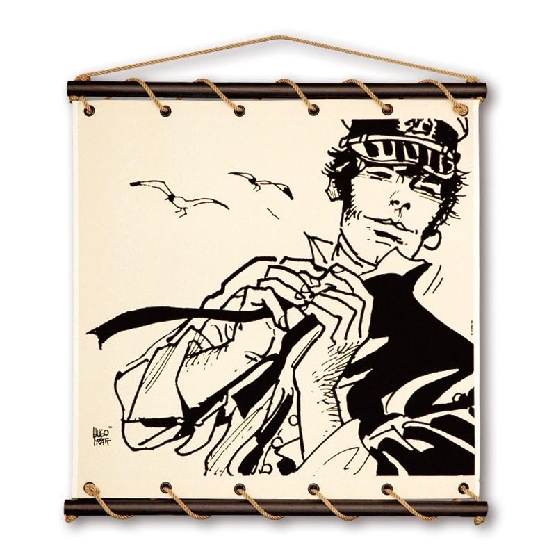 Toile décorative BD 'Corto Maltese dans le vent' - Illustrose