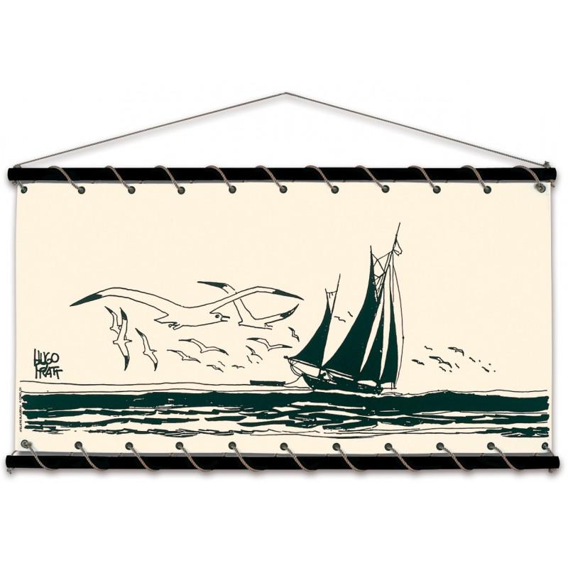 Toile décorative BD Corto Maltese 'Le voilier' - Illustrose