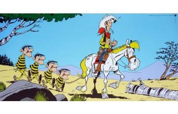 Affiche d'art 'Lucky Luke, Les Dalton' - Achdé