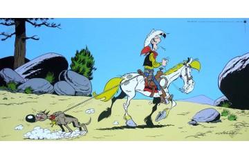 Affiche d'art 'Lucky Luke, Rantanplan' - Achdé