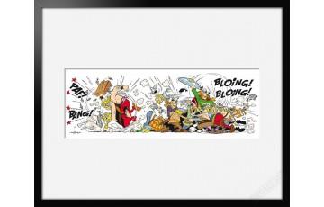 Digigraphie sur papier d'art 'Astérix, La bagarre' - Albert Uderzo