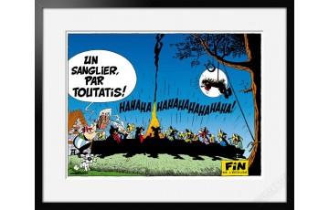 Digigraphie sur papier d'art 'Astérix, Le banquet' - Albert Uderzo