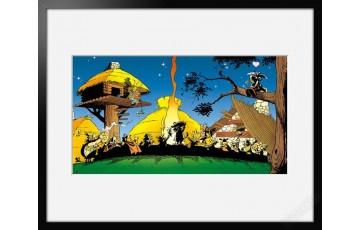 Digigraphie sur papier d'art 'Astérix, Banquet légionnaire' - Albert Uderzo