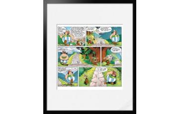 Digigraphie sur papier d'art 'Astérix, Le bouclier Arverne' - Albert Uderzo