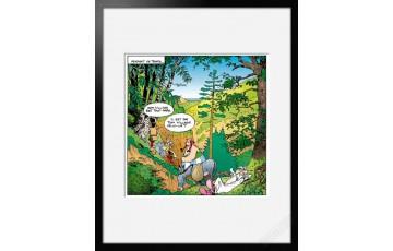 Digigraphie sur papier d'art 'Astérix, La corse' - Albert Uderzo