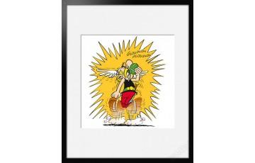 Digigraphie sur papier d'art 'Astérix, Glouglou' - Albert Uderzo