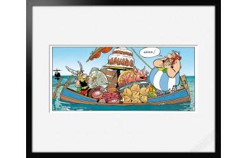 Digigraphie sur papier d'art 'Astérix, Hmmm' - Albert Uderzo