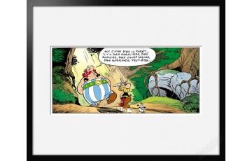 Digigraphie sur papier d'art 'Astérix, La forêt' - Albert Uderzo
